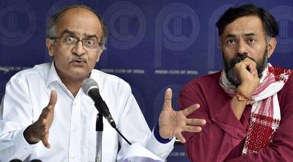 गांधीजी को श्रद्धांजलि देने गए प्रशांत भूषण और योगेंद्र यादव को दिल्ली पुलिस ने किया गिरफ्तार