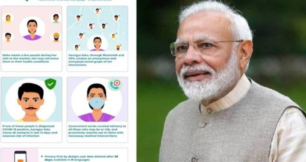 कोरोना रोकने में प्रभावी साबित हो रहा प्रधानमंत्री मोदी का ड्रीम प्रोजेक्ट 'आरोग्य सेतु ऐप'