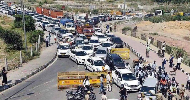 आज से फिर सील हुआ युपी बार्डर, गाजीपुर पर लगी लंबी-लंबी लाइन