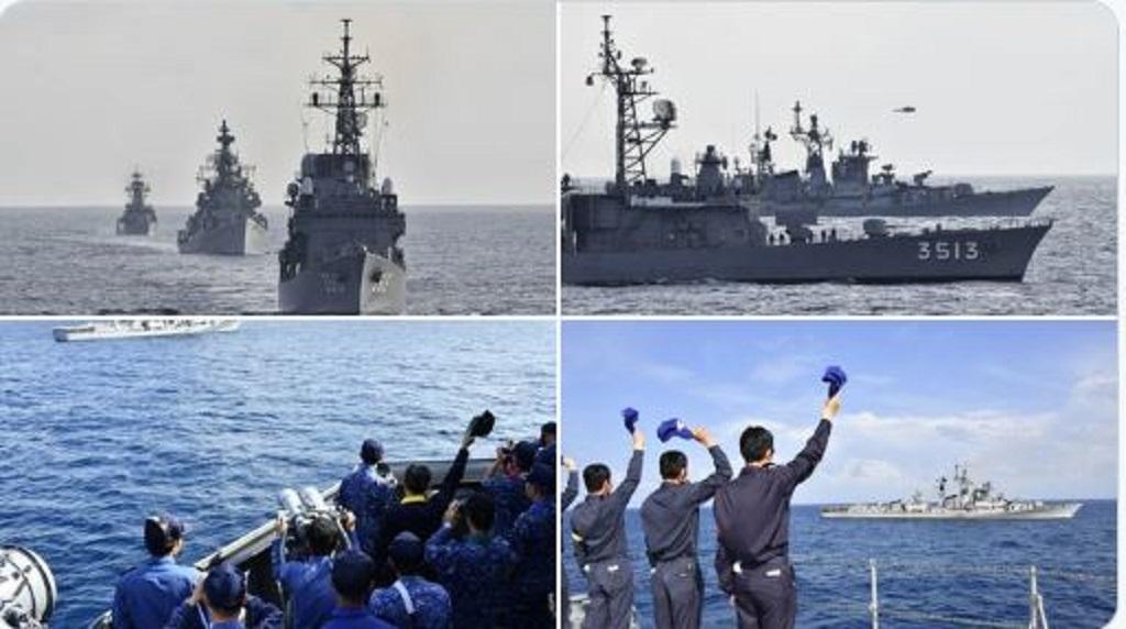 चीन के साथ तनाव के बीच भारत ने जापान की नौसेना के साथ किया युद्धाभ्यास