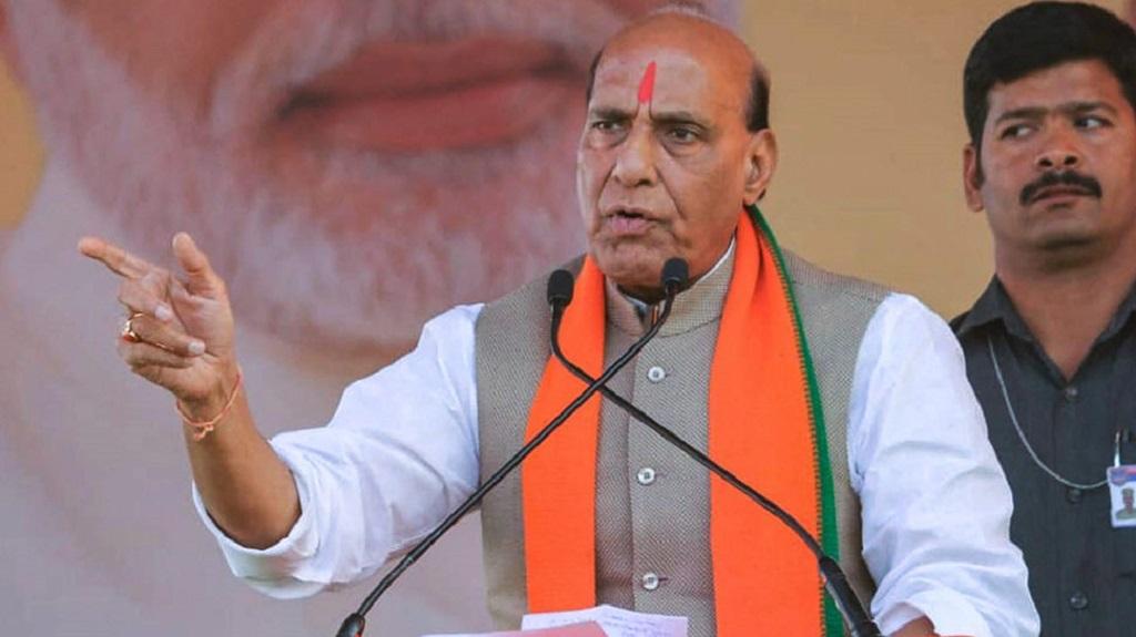 वर्चुअल रैली में राजनाथ सिंह बोले, PM मोदी के नेतृत्व में जम्मू-कश्मीर की बदलेगी किस्मत